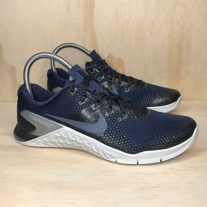 NEW Nike Metcon 4 MTLC Navy